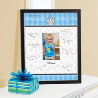 Elegant Prince Damask Birthday Framed Signature Matte