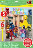 Sesame Street Scene Setter Decoration Set