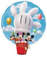 Disney Mickey Hot Air Balloon Jumbo Foil Balloon
