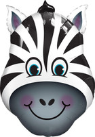 Zany Zebra Shaped Jumbo Foil Balloon