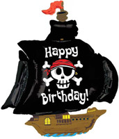 Pirate Ship Shaped Jumbo Foil Balloon