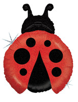 Ladybug Shaped Jumbo Foil Balloon