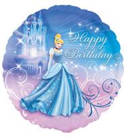 Disney Cinderella Happy Birthday Foil Balloon