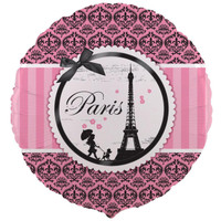 Paris Damask Foil Balloon