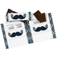 Little Man Mustache Small Candy Bar Wrappers