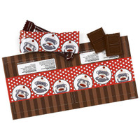Sock Monkey Small Candy Bar Wrappers
