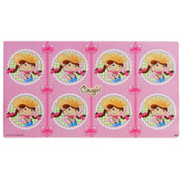Pink Cowgirl Large Lollipop Sticker Sheet