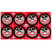 Pirates Large Lollipop Sticker Sheet