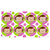 Pink Mod Monkey Large Lollipop Sticker Sheet