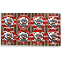 Sock Monkey Large Lollipop Sticker Sheet