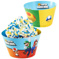 Super Mario Bros. Reversible Cupcake Wrappers