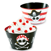 Little Buccaneer Reversible Cupcake Wrappers