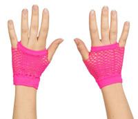 Neon Fishnet Fingerless Wrist Glove