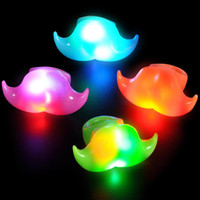 Light Up Moustache Ring