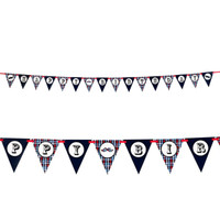 Little Man Mustache Ribbon Flag Banner