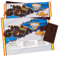 Monster Jam 3D Large Candy Bar Wrappers