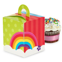 Rainbow Wishes Cupcake Boxes