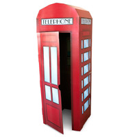 Phone Booth Cardboard Stand