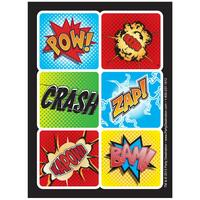 Superhero Comics Sticker Sheets