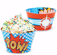 Superhero Comics Reversible Cupcake Wrappers