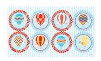 Up, Up and Away Small Lollipop Sticker Sheet
