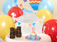 Up, Up and Away 1st Birthday Basic Party Pack