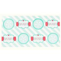 Little Spa Party Large Lollipop Sticker Sheet