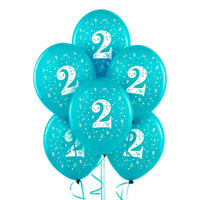 Turquoise with #2 Matte Balloons