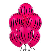 Zebra Stripes Wild Berry Latex Balloons