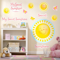 Little Sunshine Party Giant Wall Decals
