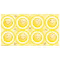 Little Sunshine Party Large Lollipop Sticker Sheet