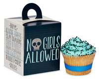 Boys Only Bash Cupcake Boxes