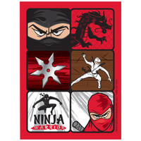Ninja Warrior Party Sticker Sheets