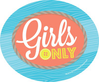Girls Only Party Stickers