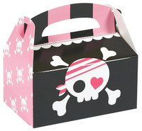 Pretty Pirates Party Empty Favor Boxes