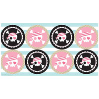 Pretty Pirates Party Large Lollipop Sticker Sheet