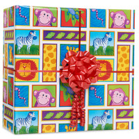 Jungle Animals Gift Wrap Kit
