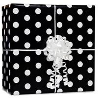 Black Polka Dot Gift Wrap Kit