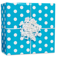 Caribbean Polka Dot Gift Wrap Kit