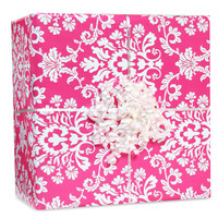Bright Pink Brocade Gift Wrap Kit