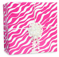 Bright Pink Zebra Gift Wrap Kit