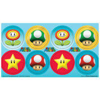 Super Mario Party Small Lollipop Sticker Sheet