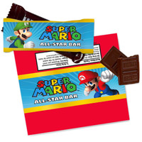 Super Mario Party Small Candy Bar Wrappers