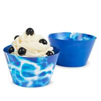 Blue Lightening Reversible Cupcake Wrappers