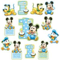 Disney Mickey 1st Birthday Cutouts