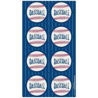 Baseball Time Small Lollipop Sticker Sheet