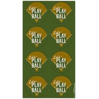 Baseball Time Large Lollipop Sticker Sheet