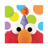 Sesame Street Elmo Party Elmo Beverage Napkins