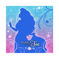 Disney The Little Mermaid Sparkle Beverage Napkins