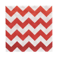 Chevron Red Beverage Napkins